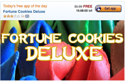 Amazon: Free Paid App Everyday! Today is Fortune Cookies Deluxe (Reg $1.99)