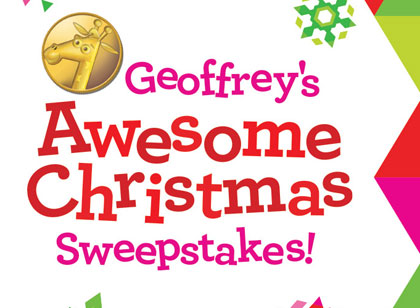 Geoffreys awesome christmas sweepstakes entries