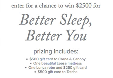 Bedding Giveaway