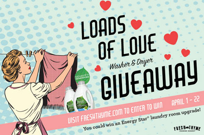 Fresh Thyme Loads Of Love Washer and Dryer Giveaway