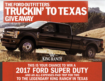 Ford Outfitters Truckin' to Texas Sweepstakes