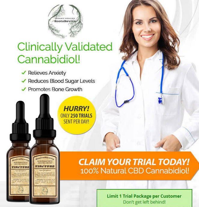 Free Bottle of RootsRevive Clinically Validated Cannabidiol