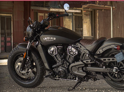 Win a 2018 Indian Scout Bobber motorcycle. A $11,499 value!